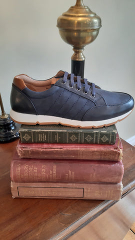Paulo Navy Shoe Trainer By 6th Sense
