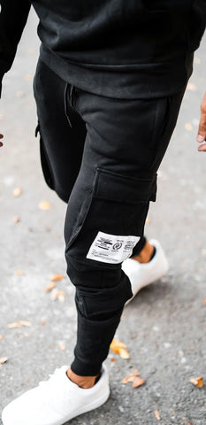 Black Utility Cargo Joggers By Sinners Attire