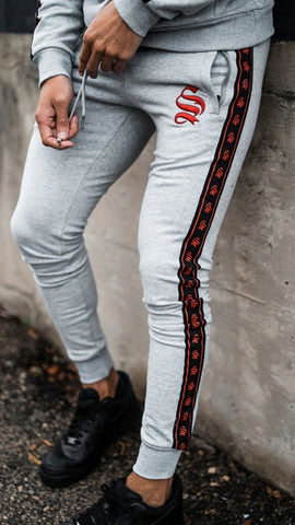 Grey Tape Jogger By Sinners Attire