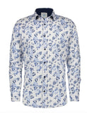 White Tulip Print Shirt By A Fish Named Fred