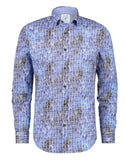 Blue House Print Shirt By A Fish Named Fred