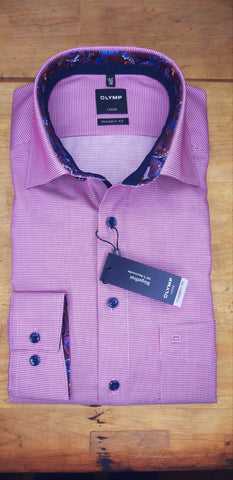 12426432 Pink Gingham Check Shirt By Olymp