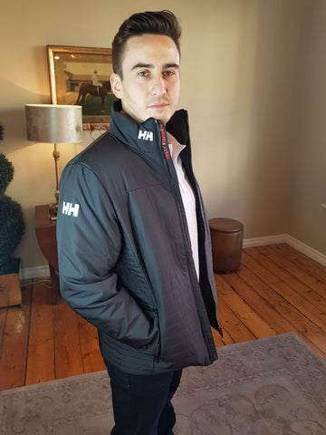 Crew Insulator Black Jacket By Helly Hansen