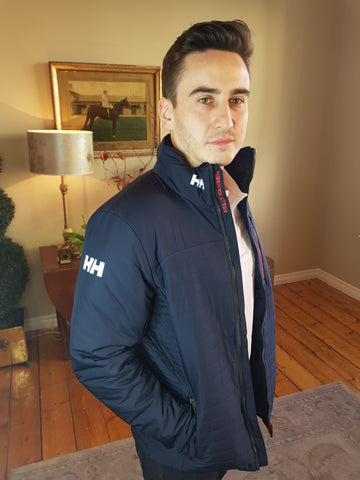 Crew Insulator Navy Jacket By Helly Hansen