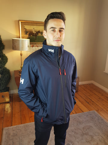 Crew Midlayer Navy Marine Jacket By Helly Hansen