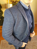 Navy Check Blazer By A Fish Named Fred