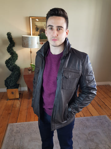 Leather Brown Jacket By DNR