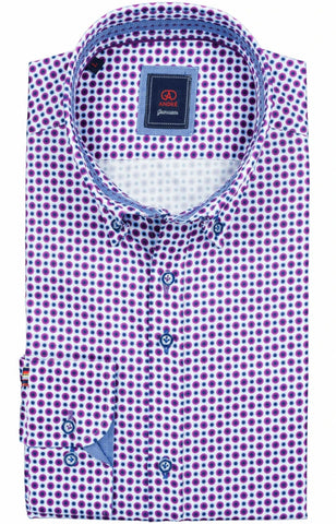 Tolka Purple Print Shirt By Andre