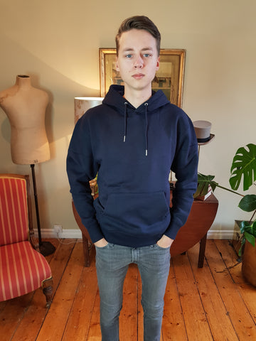 Soft Sweat Navy Hoodie By Jack & Jones