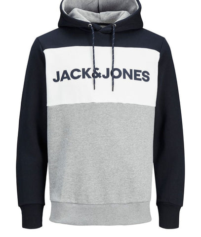 Logo Blocking Navy Hoodie By Jack & Jones