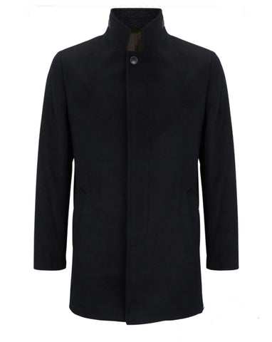 Ely Navy Coat By Benetti
