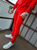 Script Red Tracksuit By Sinners Attire