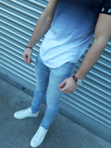 Liam Pale Blue Denim Skinny Jeans By Jack & Jones
