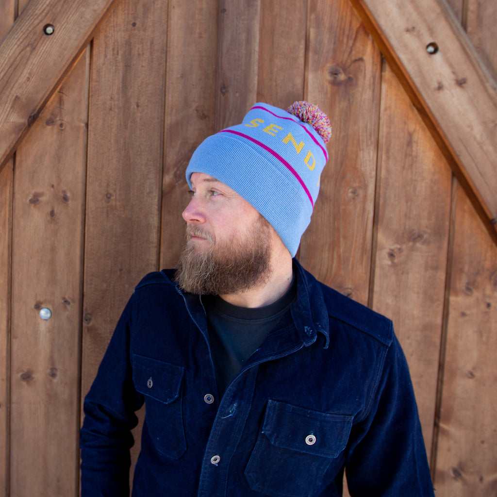 Early Bird Pom Beanie - Blue