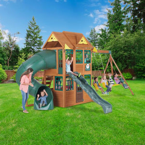 Sales Tagged Swing Sets With Tube Slides Backyard Swing World