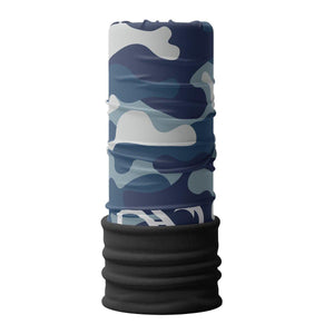 Blue Camo Fleece Neck Gaiter (4478747803720)