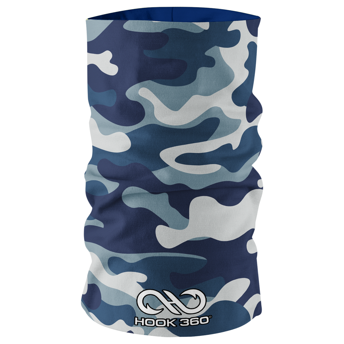 Kids Blue Camo Neck Gaiter (5454738063517)