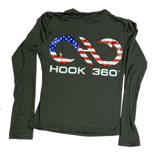 Youth American Flag Performance Shirt (5667878207645)