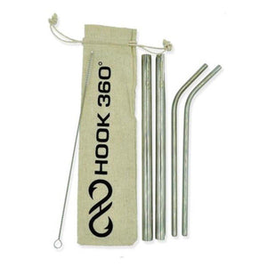 4 Piece Stainless Steel Straw Set (4346081050696)