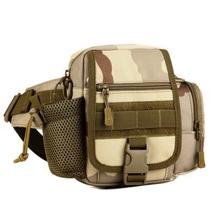 Tactical Waist Pack / Messenger Bag w/ Bottle Holder