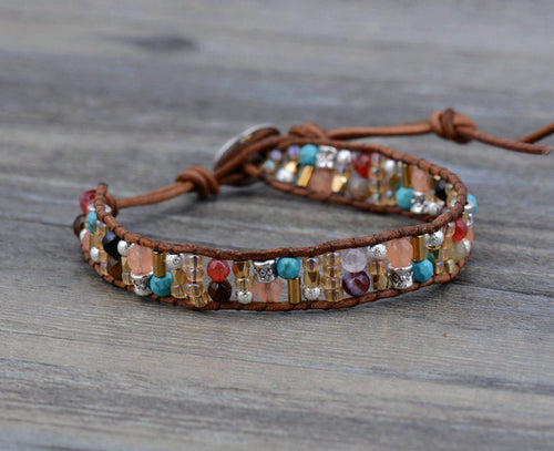 Mini Boho Mixed Stone Bracelet
