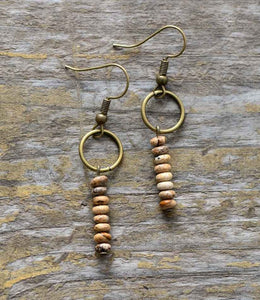 Natural Stone Dangle Earrings