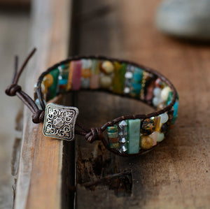 Boho Onyx Leather Wrap