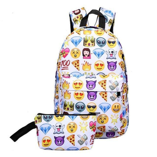 Emoji Backpack Set (2 pieces)