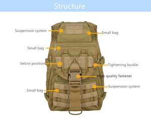 35L Internal Capacity Waterproof Tactical Pack