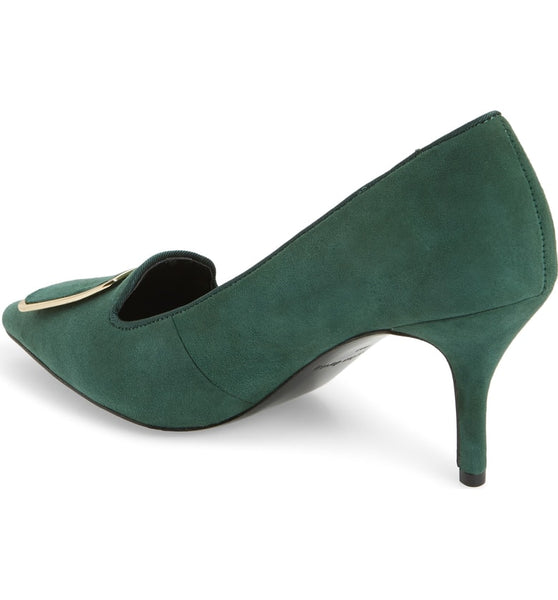 Hunter Green Suede