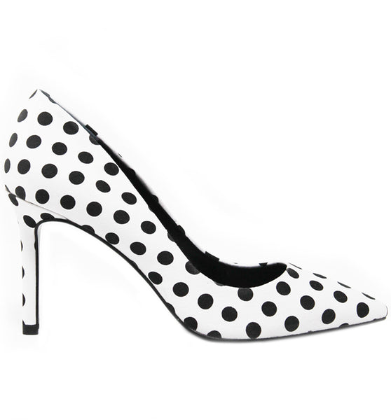 White Black PolkaDot