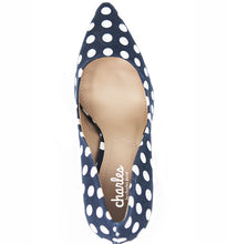 Navy White PolkaDot