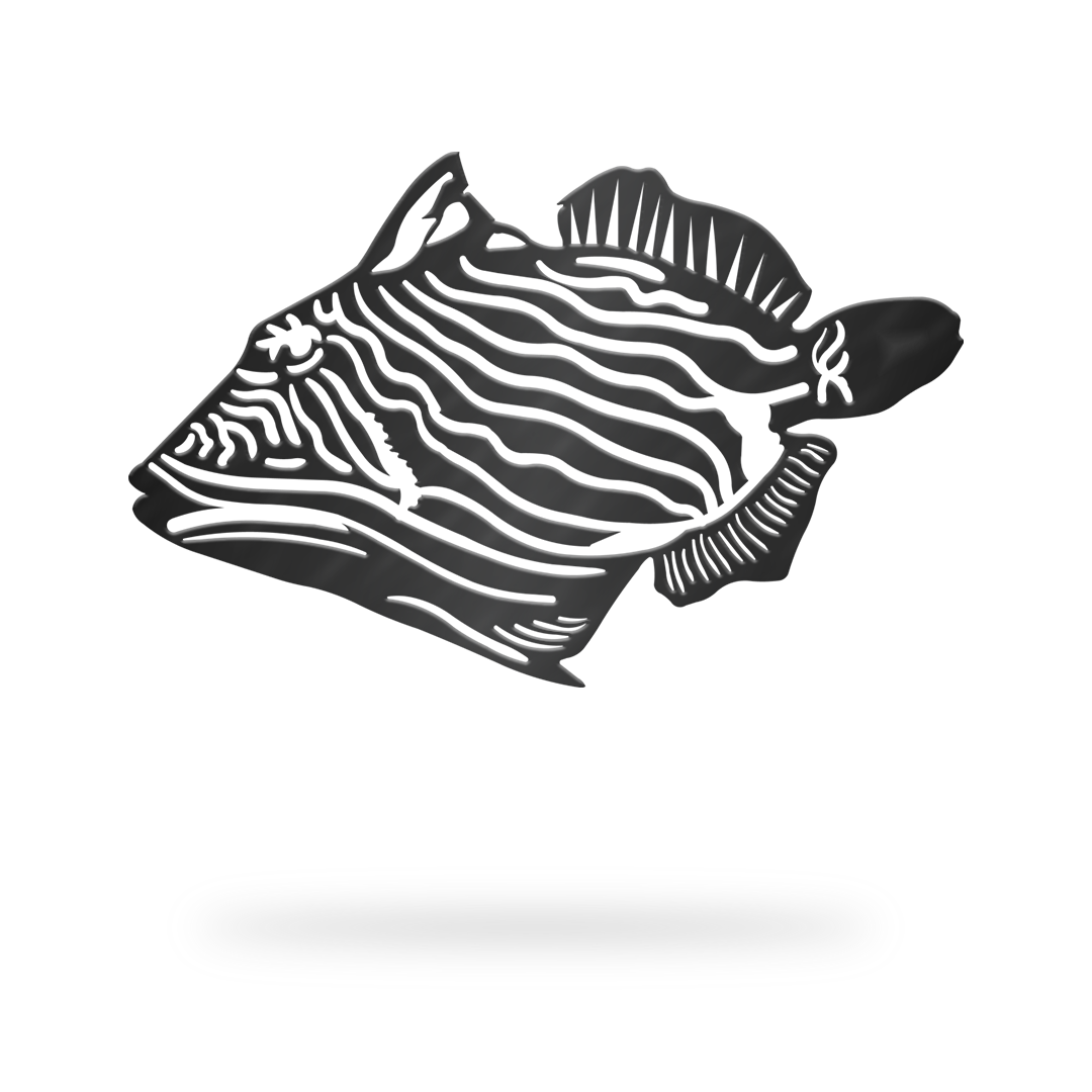 Trigger Fish Sign with black finish