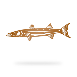 Barracuda Sign with copper finish
