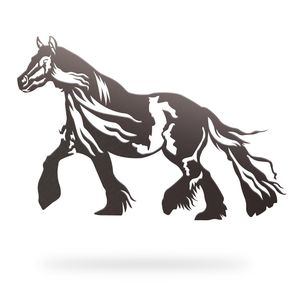 Horse Sign with black finish