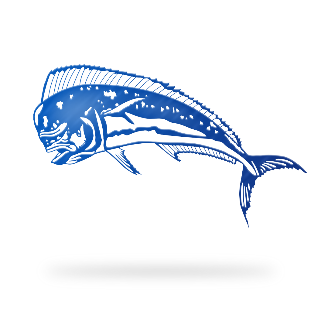 Mahi Mahi Sign with blue finish