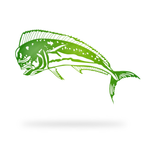 Mahi Mahi Sign with green finish