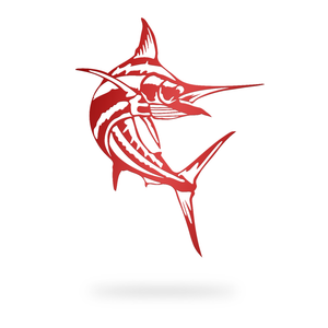 Swooping Marlin Sign with red finish