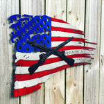 Personalized American Battle Flag with Military Logo