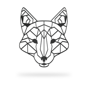 Geometric Fox Sign with black finish