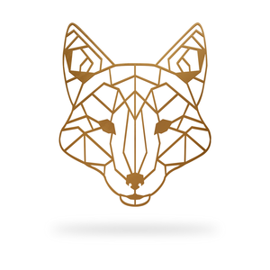 Geometric Fox Sign with copper finish