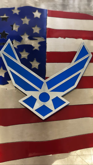 us air force military metal art