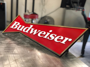 Custom Budweiser sign