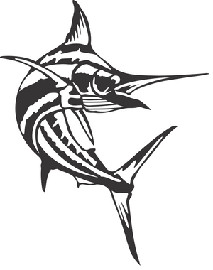 Swooping Marlin Sign