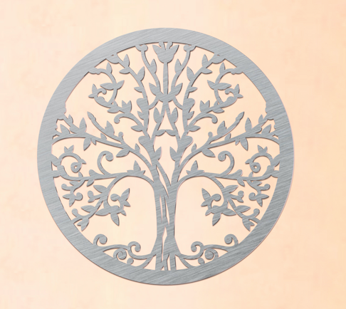 metal tree of life sign