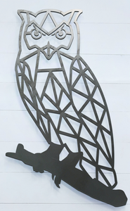 Geometric Owl Sign