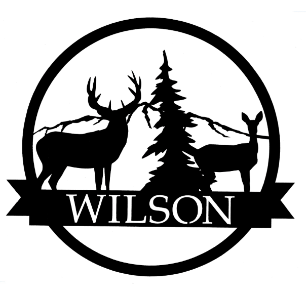 Ribbon Monogram - Deer Wilderness