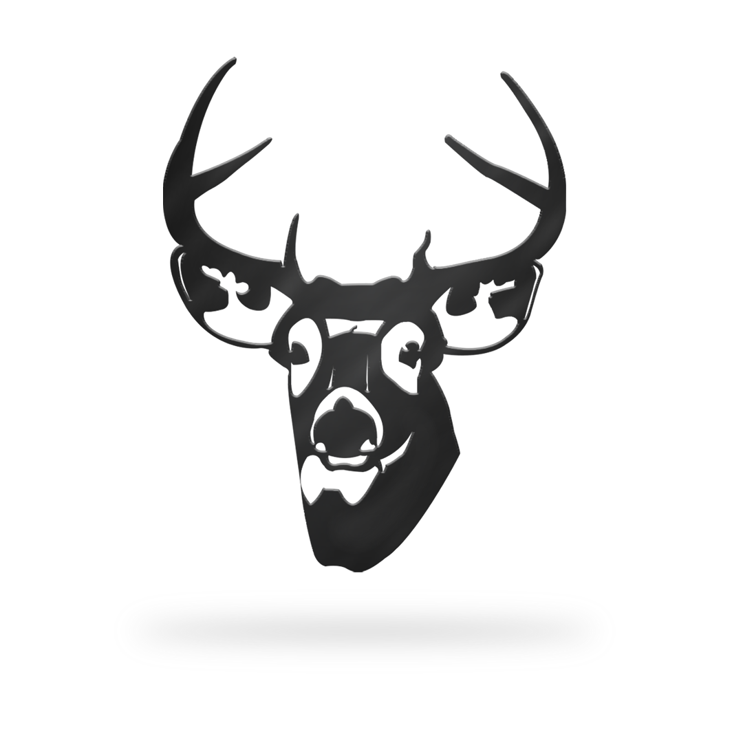Deer Sign with black finish