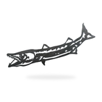 metal barracuda sign