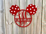 Personalized Mouse monogram